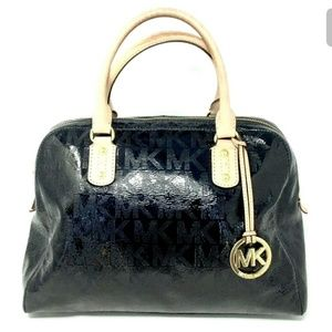 Michael Kors Satchel Handbag Black Patent